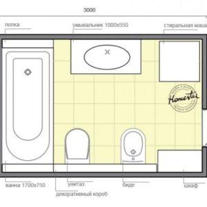 Дизайн для ванної кімнати 6 кв. м.