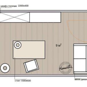 Дизайн кабінету 9 кв. м: 5 варіантів планування