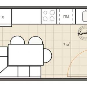 Дизайн кухні 7 кв. м. – варіанти практичних планувань
