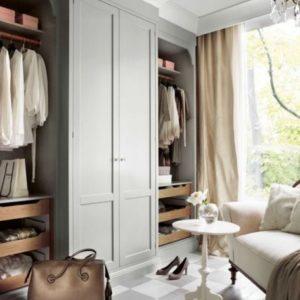 Спальня, поєднана з гардеробною: принципи облаштування