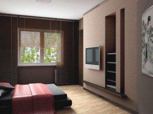 Дизайн спальні з телевізором