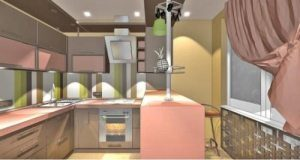 Коричневий колір в інтер'єрі кухні