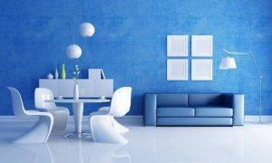 Інтер'єр кімнати в синьому кольорі