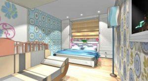 Спальня і дитяча в одній кімнаті