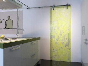 Розсувні двері для ванної та туалету