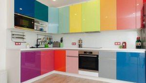 Поєднання кольорів в інтер'єрі кухні. Фото